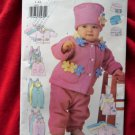 Butterick Pattern # 6280 UNCUT Infant Baby Jacket Vest Jumpsuit Hat Size Large XL