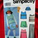 Simplicity Pattern # 5804 UNCUT Girls Fleece Top Skirt Pants Size 2 3 4 5 6 6X