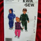 Kwik Sew Pattern # 2547 UNCUT Toddlers Pull-Over Jacket Vest Pants Size T1 T2 T3 T4