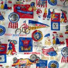 Retro Political Novelty Fabric Women Voters Flag 1 ¾ yards