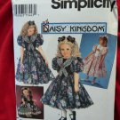 Simplicity Pattern # 9970 UNCUT Girls & Doll Dress Size 3 4 5 6 Daisy Kingdom