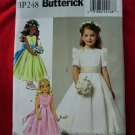 Butterick Pattern # BP 248 UNCUT Girls Special Occasion Flower Girl Dress Size 6 7 8