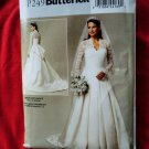Butterick Pattern # BP 249 UNCUT Wedding Bridal Long Dress Size 6 8 10 12 14