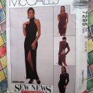 McCall's # 7295 Misses Evening Dresses Sizes 12 14 16