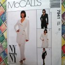 Scarce McCall's Pattern # 7941 UNCUT~  Jacket or Dress & Pants 1995 Size 10