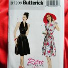 Butterick Pattern # 5209 UNCUT Misses Halter Dress Size 14 16 18 20 Retro Vintage 1947