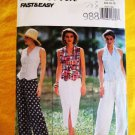 Butterick Pattern # 6847 Misses Button Front Halter Top Straight Skirt Pants Size 6 8 10 12