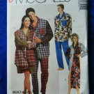 McCalls Pattern # 6845 UNCUT Mens Womans Nightshirt Pajamas Size Small Medium Large