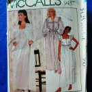 McCalls Pattern # 9437 UNCUT Misses Robe Nightgown Size XS Extra Small Laura Ashley