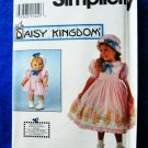 Simplicity Pattern # 8080 UNCUT Girls Doll Dress Size 5 6 7 8 Daisy Kingdom