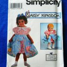 "Simplicity Pattern # 8079 UNCUT Girls and 13"" Doll Dress Daisy Kingdom Size 3 4 5 6"
