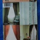 Simplicity Pattern # 4612 UNCUT Long Drapes Sheer Window Curtains