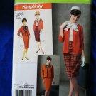 Simplicity Pattern # 2154 UNCUT Retro 1960s Misses Womans Skirt Jacket Blouse Size 16 18 20 22 24
