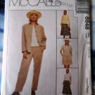 McCalls Pattern # 8848 UNCUT Misses Wardrobe Jacket Pants Skirt Size 10 12 14