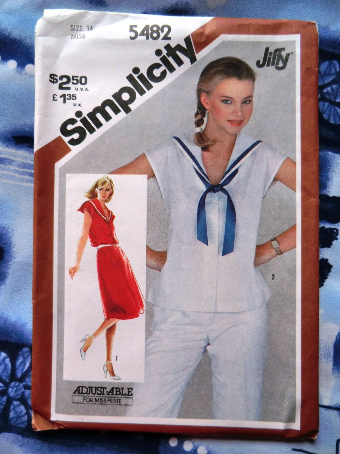 HOLD! Simplicity Pattern # 5482 UNCUT Misses Sailor Top Pull-over Dress Size 14
