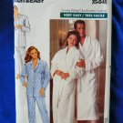 Butterick Pattern # 4483 UNCUT Mens Misses Unisex Robe and Pajamas Size XS Small Medium