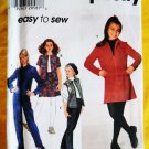 Simplicity Pattern # 7750 UNCUT Girls Jacket Vest Skirt Pants Size 12 14