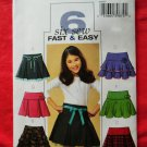 Butterick Pattern # 4593 UNCUT  Girls Pleated Layered Tiered Yoke Skirt Size 12 14 16