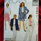McCalls Pattern # 6383 UNCUT Misses Jacket Top Pants Shorts Size 14 16 18