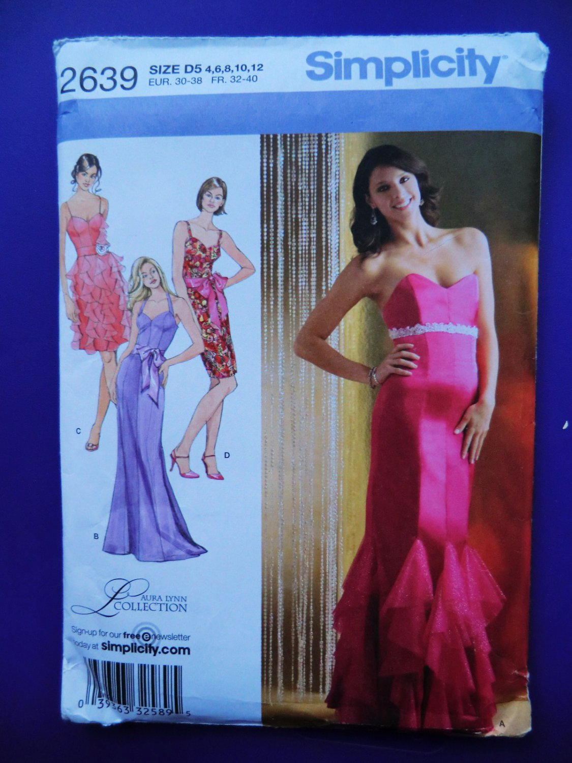 Simplicity Pattern # 2639 UNCUT Misses Gown Special Occasion Dress Size 4 6 8 10 12