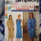 Simplicity Pattern # 8645 UNCUT Womans Full Figure Solutions Jacket Bias Skirt Top Size 26 28 30 32