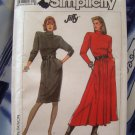Simplicity Pattern # 8283 UNCUT Misses Knit Dress Size 6 8 10 12 Two Lengths