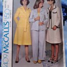 McCalls Pattern # 4409 UNCUT Misses Unlined Jacket Pants Skirt Size 10