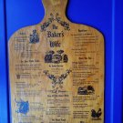 Rare Vintage Wood Menu Pheasant Run Lodge St Charles IL Wine Food