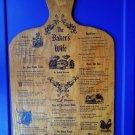 Rare Vintage Wood Menu Pheasant Run Lodge St Charles IL Wine Food