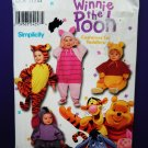 Simplicity Pattern # 9378 UNCUT Baby Toddler Costume Winnie the Pooh