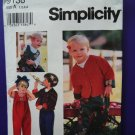 Simplicity Pattern # 9138 UNCUT Toddler Jumpsuit Jacket Size 1 2 3 4