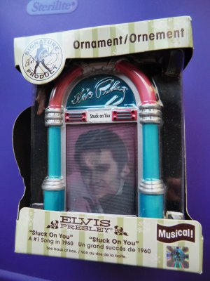 Hard to find ELVIS Musical Ornament ~ Stuck on You