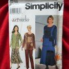 Simplicity Pattern # 8246 UNCUT Misses Top Skirt Pants Size 6 8 10