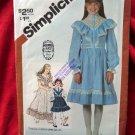 Vintage Simplicity Pattern # 5437 UNCUT Girls Gunne Sax Dress Size 6