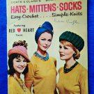 Vintage 1962 Easy Knit & Crochet Booklet Mid Century Hats Mittens Socks