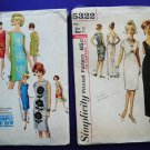 Lot 1960's UNCUT Simplicity Pattern # 5322 Misses Dress & Gown Pattern UNCUT Size 10 Small