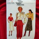 Vogue Pattern # 7444 UNCUT Misses Slim or A-Line Skirt Size 10