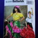 Butterick Pattern # 4889 UNCUT Misses Gypsy Costume Size Large XL