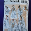 Butterick Pattern # 4487 UNCUT Misses' Bridal Veils  6 Styles All Sizes