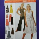 Simplicity Pattern # 4998 UNCUT Misses Dress Top Skirt Size 14 16 18 20