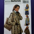 Butterick Pattern # 5532 UNCUT Misses Reversible Jacket Vest Tote Size 16 18 20 22