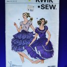 Kwik Sew Pattern # 1157 UNCUT Misses Square Dance Dress Size 6 8 10 12