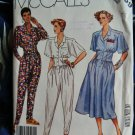 McCalls Pattern # 2539 UNCUT Misses Jumpsuit & Dress Size 14 Vintage 1986