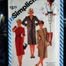 Simplicity Pattern # 6149 UNCUT Misses Dress Collar Variations Size 14