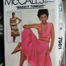 McCalls Pattern # 7961 UNCUT Misses Pull-Over Summer Dress Size Medium