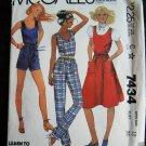 McCalls Pattern # 7434 UNCUT Misses Jumper Jumpsuit Size 12 Vintage 1981