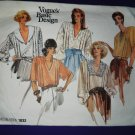 Vogue Pattern # 1832 UNCUT Misses Romantic Blouse Size 8 10 12