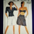 Simplicity New Look Pattern # 6120 UNCUT Misses Summer Top Shorts Size 8 10 12 14 16 18