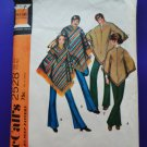 Vintage McCalls Pattern # 2528 UNCUT PONCHO All Sizes