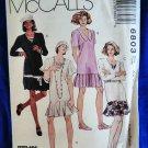 McCalls Pattern # 6803 UNCUT Misses Flapper Drop Waist Dress Size 4 6 8